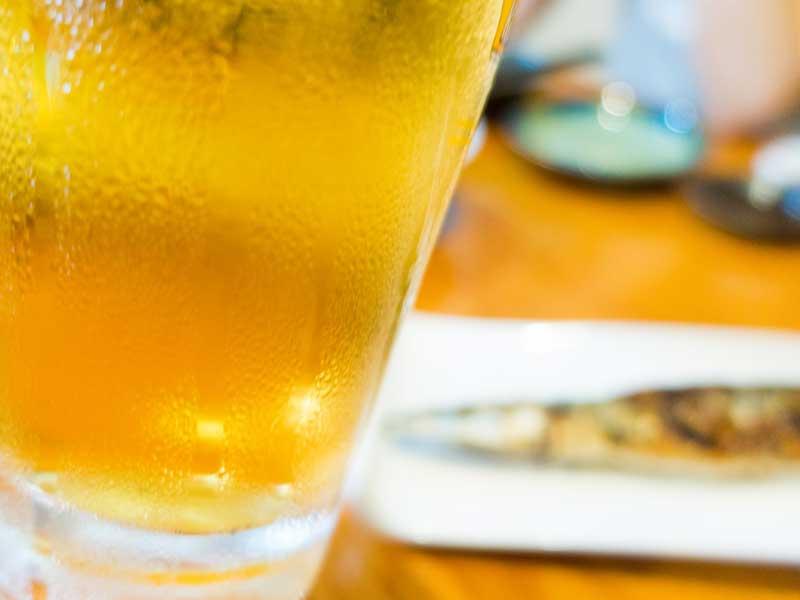 サンマとビール